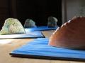 Saaria pöydällä